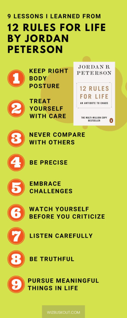 12 rules for life summary infographic