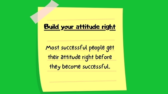 build your attitude right banner