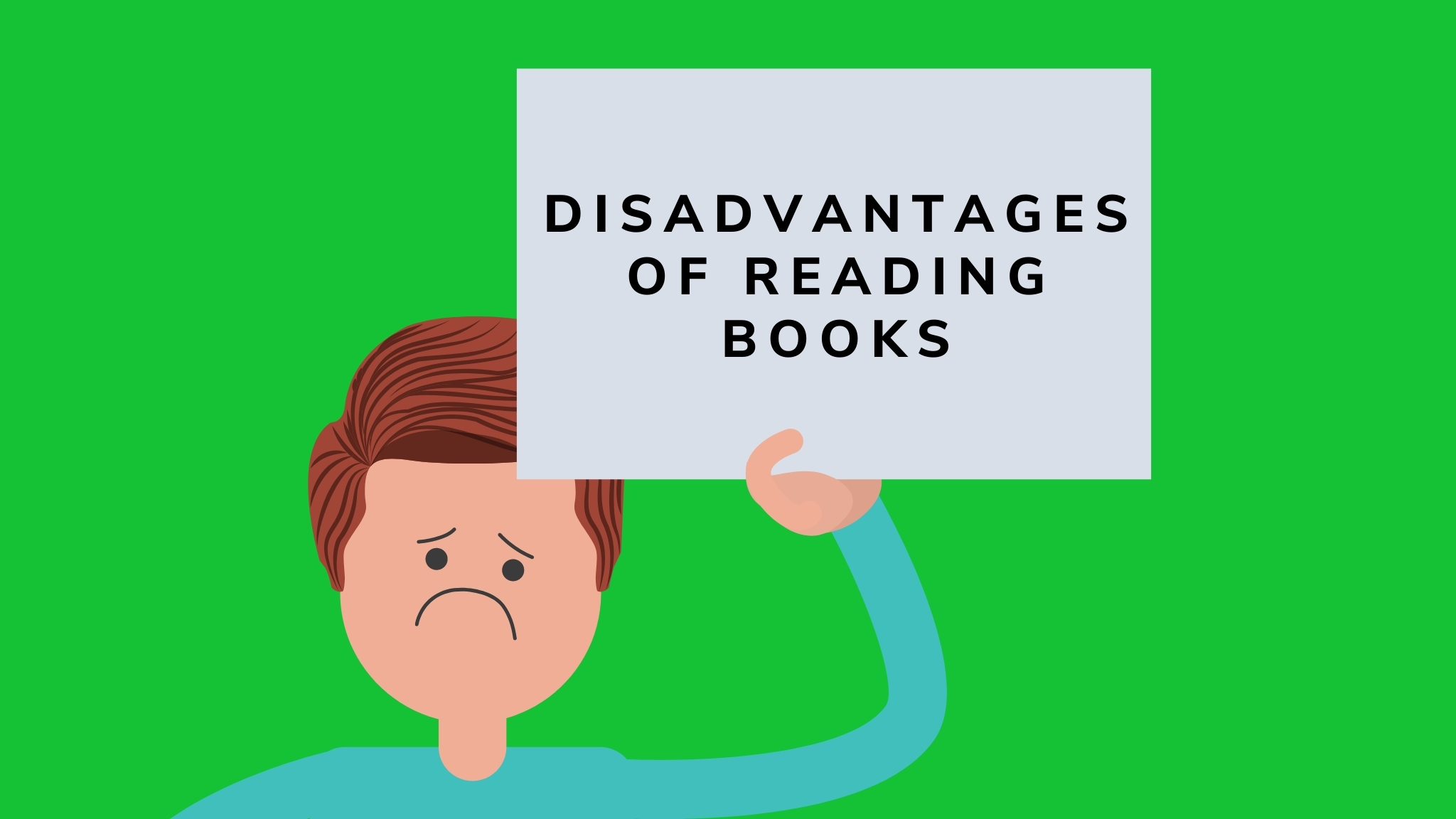 disadvantages of reading books