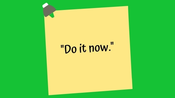 do it now banner