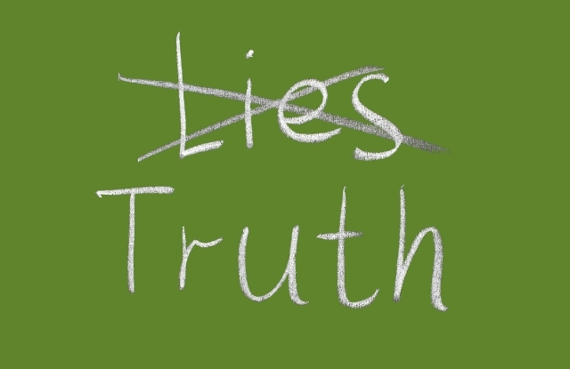Lies crossed. Truth prevails.