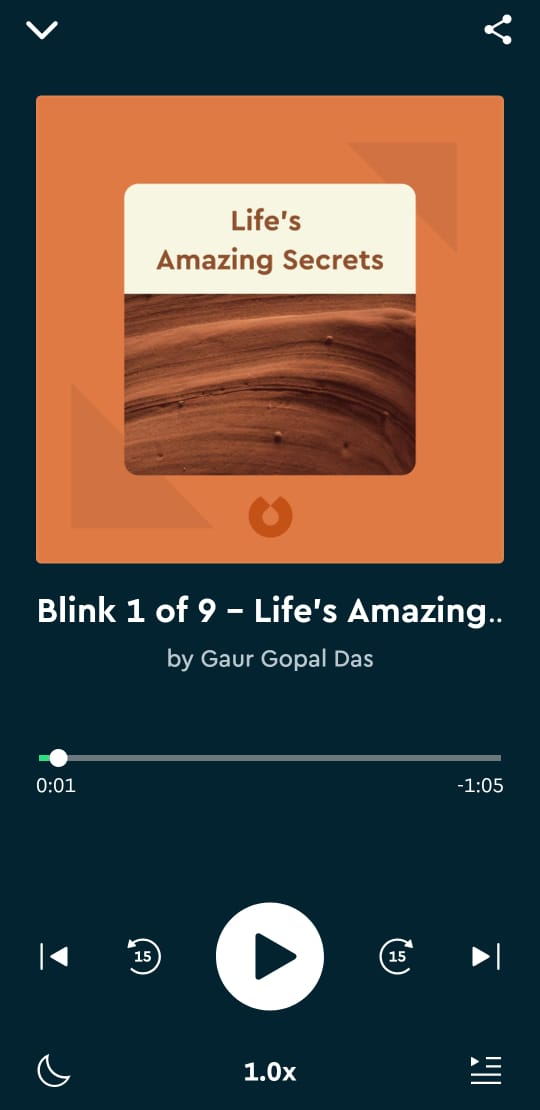 listening to blinks in blinkist