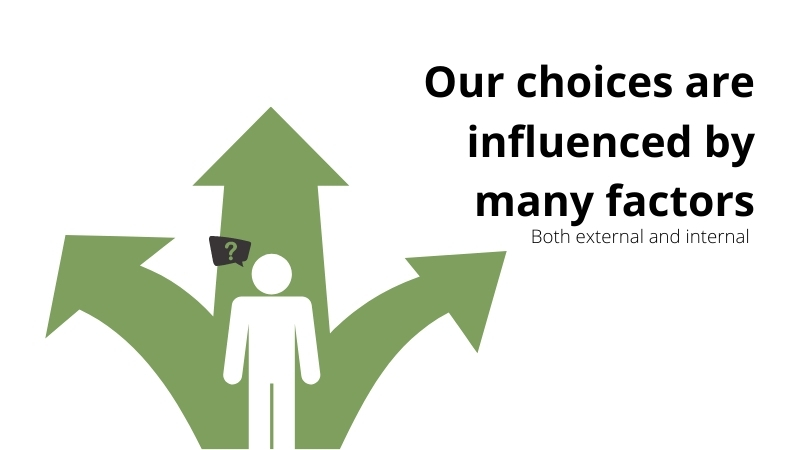 Our choices are influenced by many factors