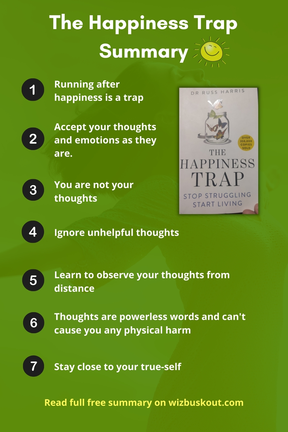 The Happiness Trap Summary Infographic