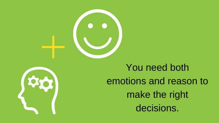 You need both emotions and reason to make the right decisions