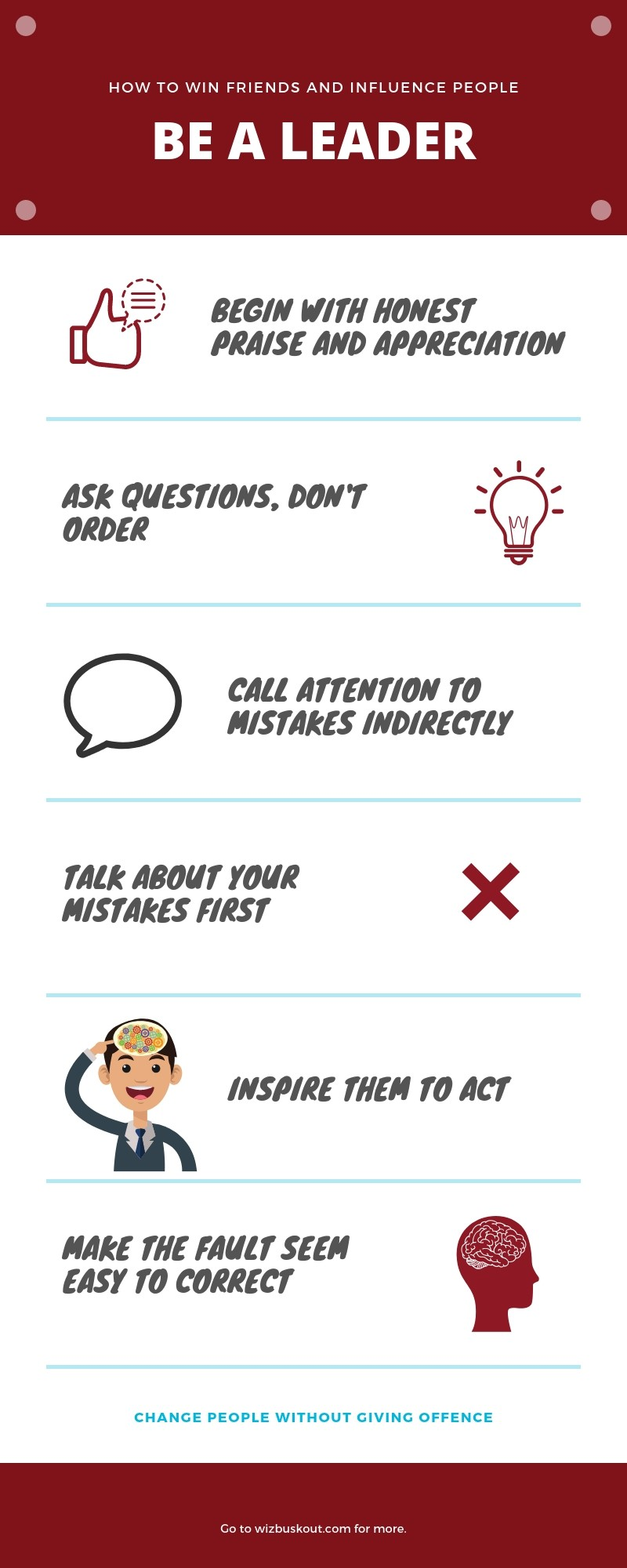 how to win friends and influence people summary infographic