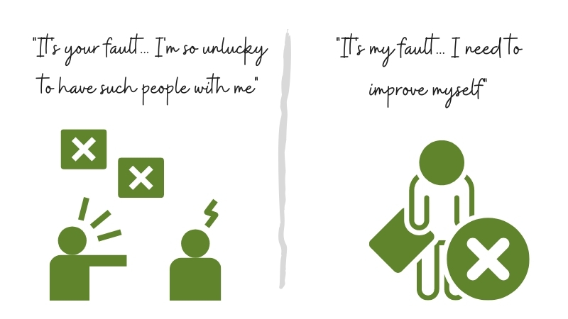 blaming vs responsible people