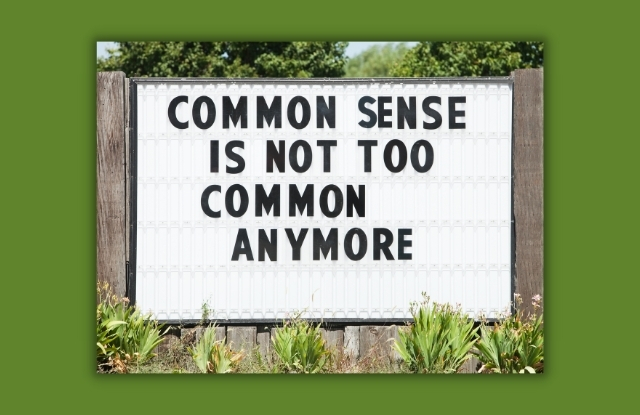 common sense is not too common anymore