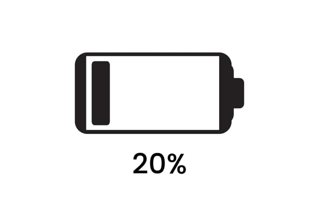 low charged battery