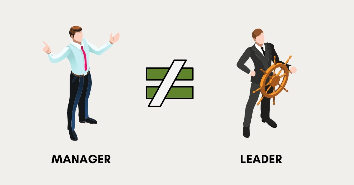 manager doesn't equal to leader