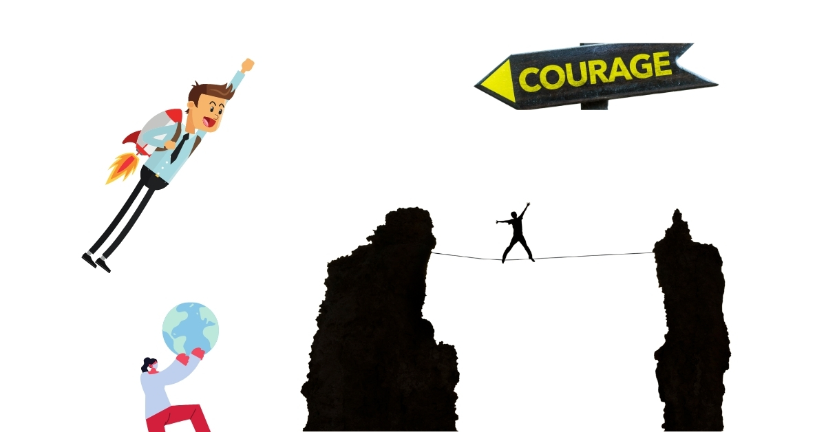 people showing courage in their fields