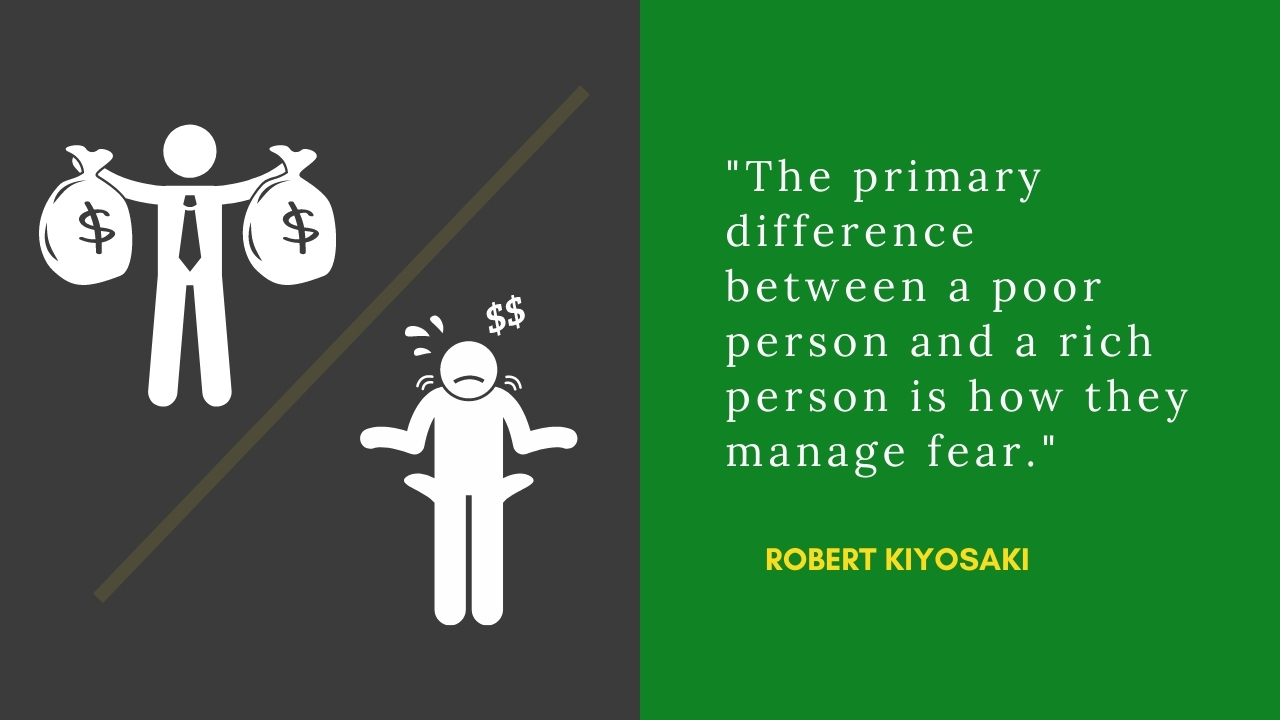 robert kiyosaki quote stating the difference between rich and poor