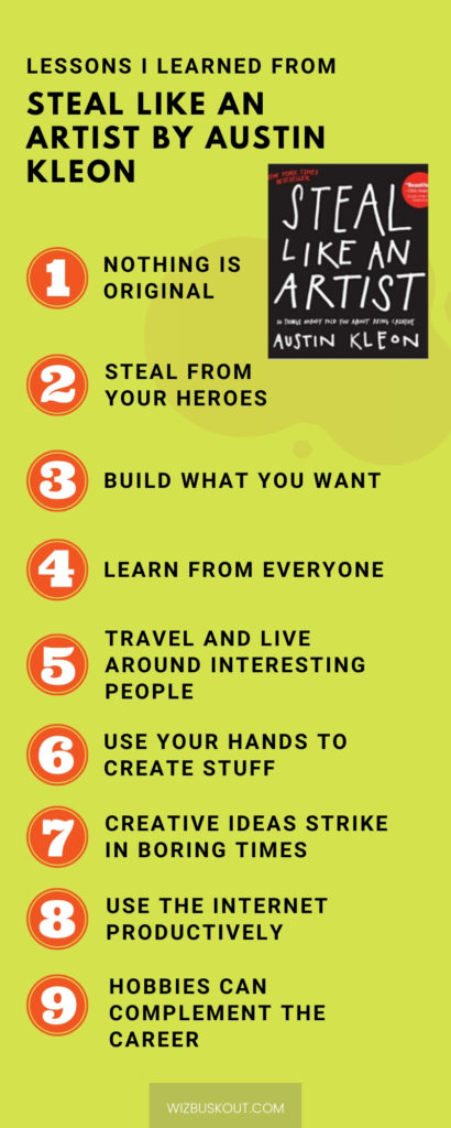 steal like an artist summary infographic