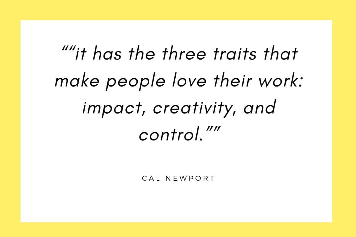 traits that make people love their work