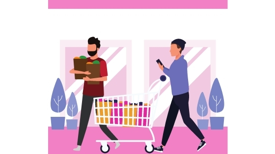two people shopping