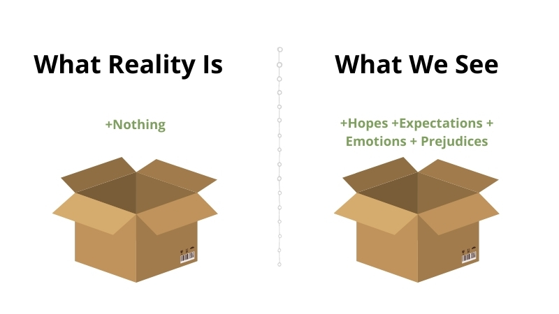 what reality is versus what we see