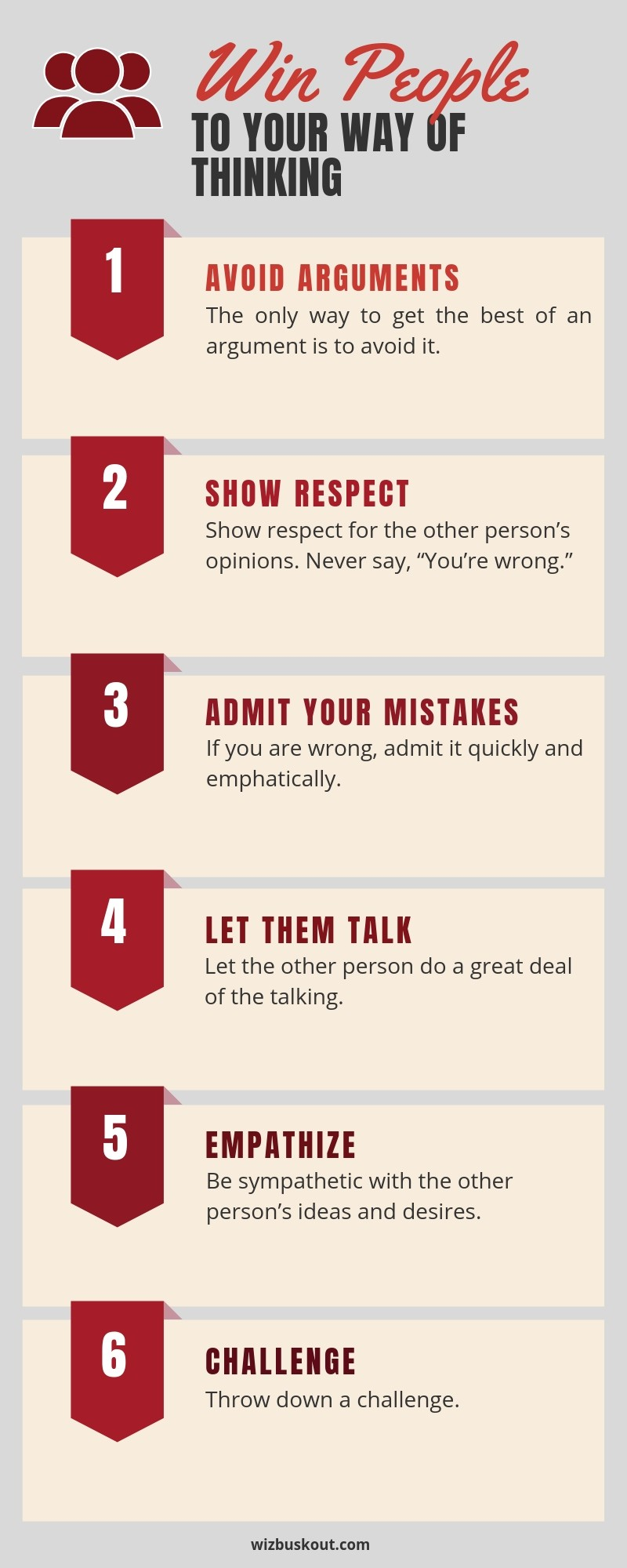 win people to your way of thinking infographic
